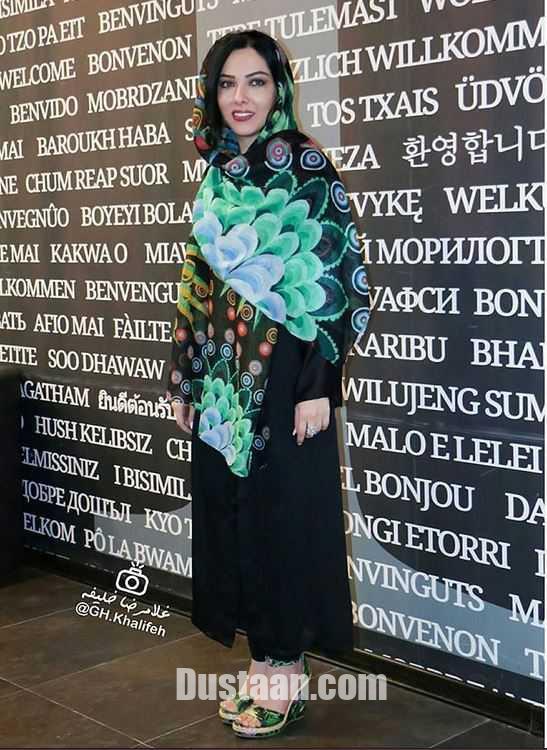 تیپ لیلا اوتادی در اکران فیلم آشوب