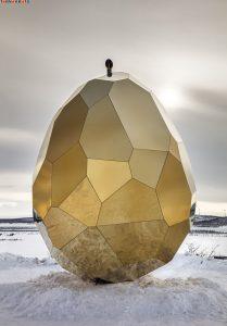 سونا به شکل تخم مرغ طلایی با معماری زیبا