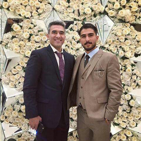احمد رضا عابدزاده در عروسی