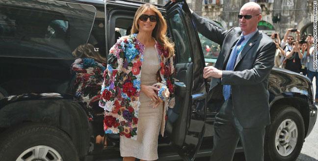 کت گران قیمت همسر ترامپ