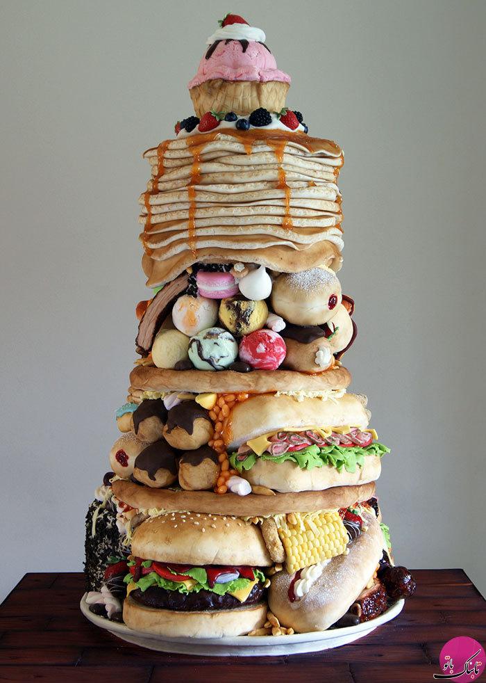 فست فودهایی از جنس کیک خامه ای