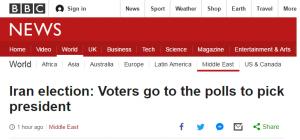 واکنش bbc و voa به انتخابات امسال