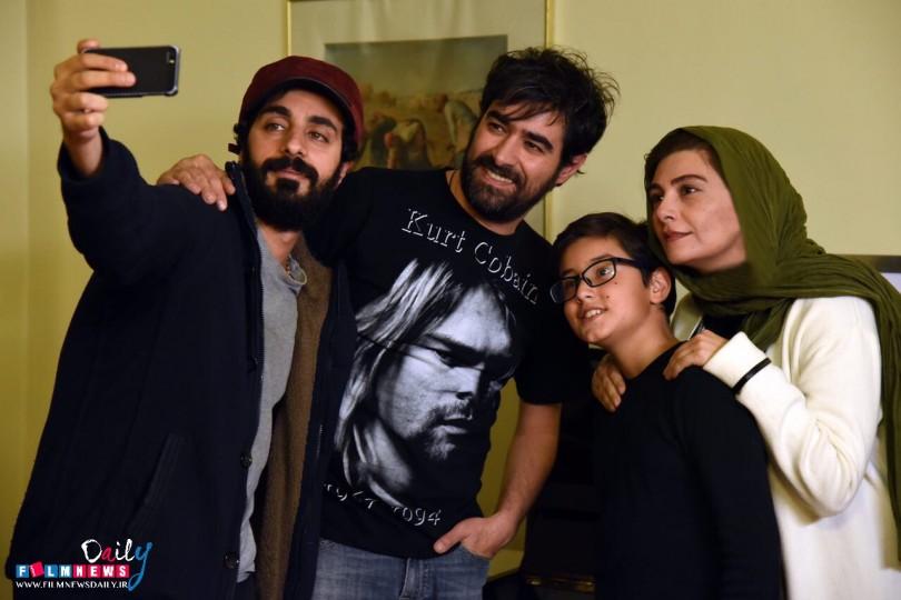 شهاب حسینی در کنار بازیگران زن