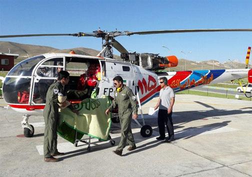 تولد نوزاد با کمک اورژانس هوایی