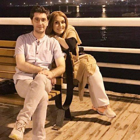 امیرحسین مدرس و همسرش در کیش