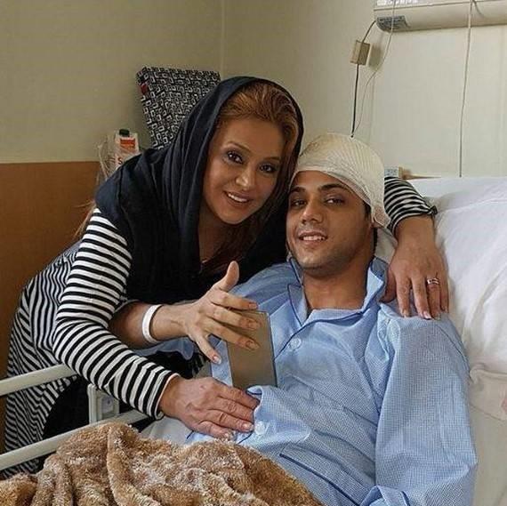 پسر نسرین مقانلو در بیمارستان