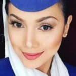 انتخاب یک زن ایرانی به عنوان زیباترین مهماندار
