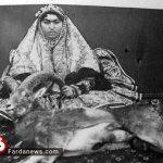 شکار شاهانه زن قاجار