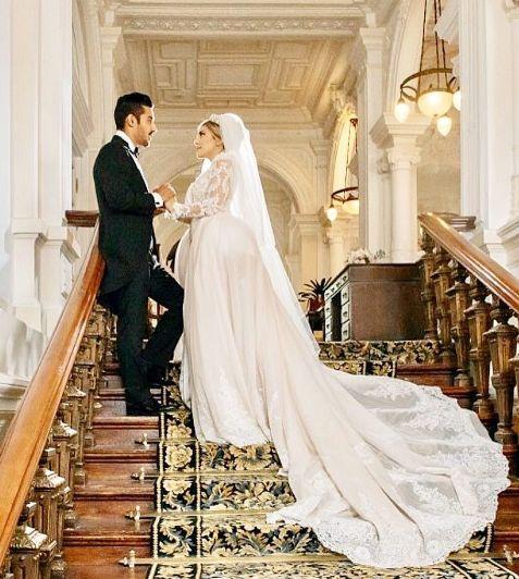 لباس عروس همسر رضا قوچان نژاد