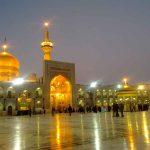 بارش باران تابستانی در حرم مطهر امام رضا(ع)