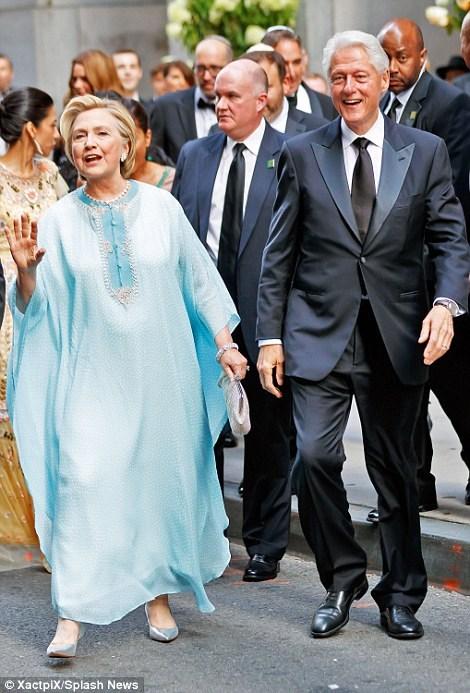 خانم و آقای کلینتون در عروسی