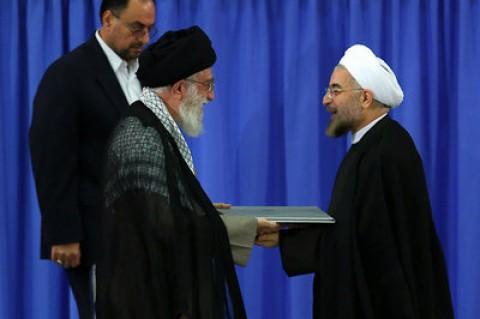 متن حکم تنفیذ مقام معظم رهبری برای روحانی
