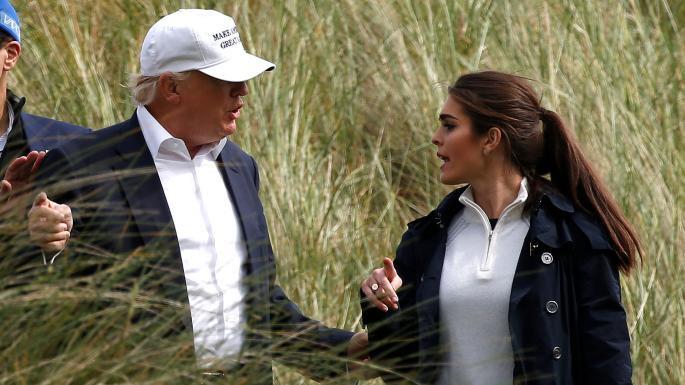حضور خانم در کنار ترامپ