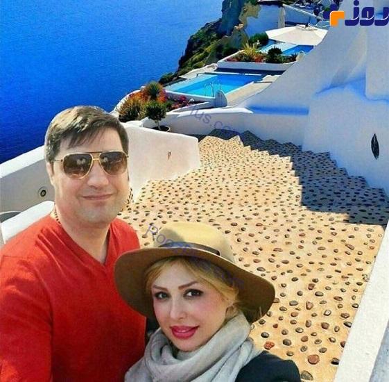 نیوشا ضیغمی و همسرش در جزیره
