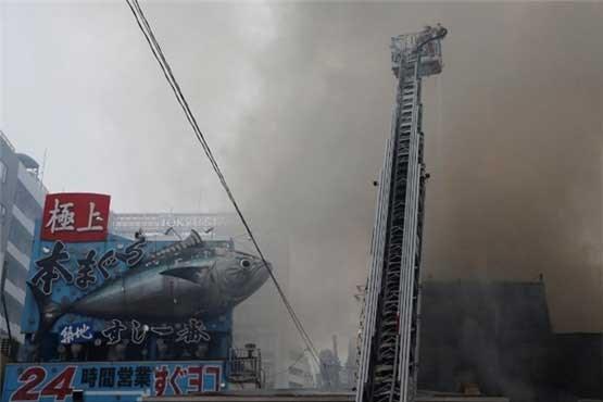 بزرگترین بازار ماهی جهان در ژاپن آتش گرفت