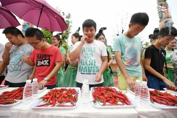 مسابقه فلفلخوری در چین