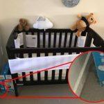 استتار عجیب یک مار کنار تخت نوزاد