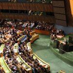 نمایندگان آمریکا حاضر در سخنرانی روحانی