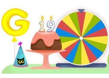 جشن تولد نوزده سالگی موتور جستجوی گوگل برگزار شد