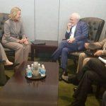 دیدار ظریف و موگرینی قبل از نشست وزیران خارجه ایران