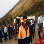 واژگونی اتوبوس گردشگران اصفهانی در گردنه حیران
