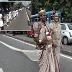 دردسر عروس خوش لباس برای دانش آموزان یک مدرسه!