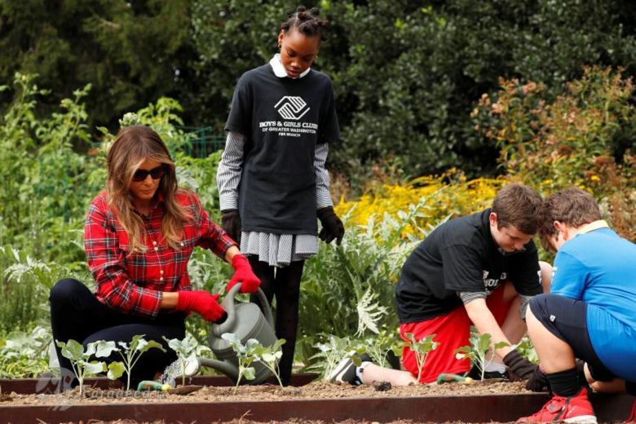 باغبانی کردن ملانیا ترامپ