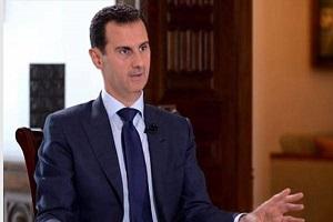 دیدار اعضای تیم ملی فوتبال سوریه با بشار اسد