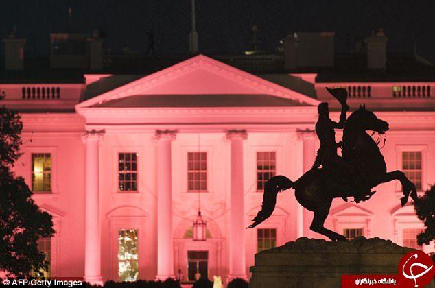 صورتی کردن کاخ سفید