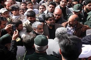 برگزاری مراسم تشییع پیکر پدر سردار سلیمانی
