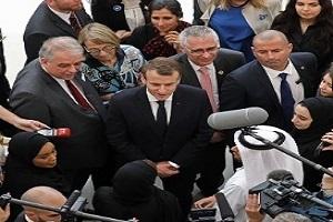 سلفی دانشجویان سوربن ابوظبی با رییسجمهور فرانسه