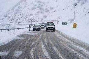 بارش برف و باران در جاده های ۹ استان کشور