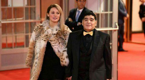 مارادونا و همسرش در مراسم جامجهانی