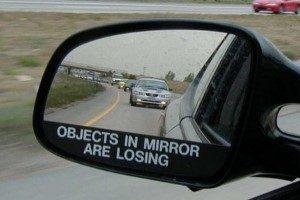 عجیب ترین آینه بغل ماشین