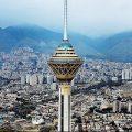 «برج میلاد» غرق در برف و مه صبح امروز تهران