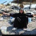 درگیری در مناطق زلزله زده به خاطر نبود چادر