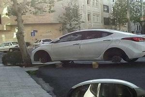 سرقت لاستیک خودروهای لوکس در تهران