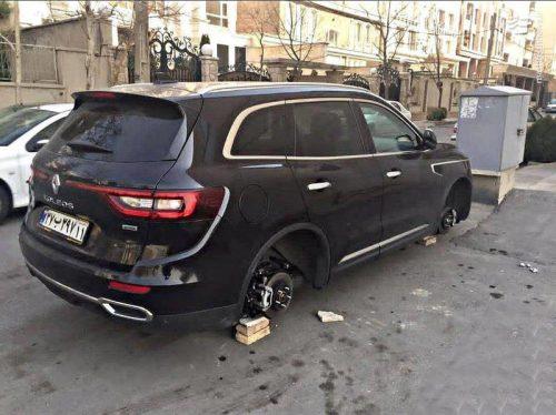 سرقت لاستیک خودرو