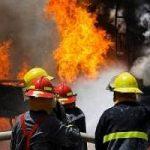 آتش سوزی در ساختمانی در دریاچه چیتگر