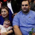 بهداد سلیمی به همراه همسر و دخترش در ایتالیا