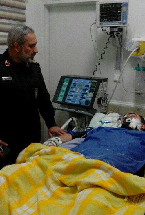 عیادت از مجروح حادثه پاسداران