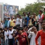 عروس آمیتاب باچان در مراسم وداع با بازیگر بالیوودی