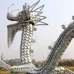 ساخت مجسمه اژدهای چینی ۱۰۰متری