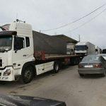 ترافیک کامیون ها در مرز آستارا و به وجود آمدن صف های طولانی