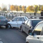 تصادف وحشتناک کامیون با چند خودرو در بلوار چهل مقام شیراز
