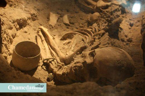 اسکلت 4 هزار ساله مادر و نوزاد
