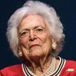 روسای جمهور سابق آمریکا با همسرانشان در ختم باربارا بوش