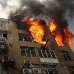 وقوع آتش سوزی در یکی از برج های بلندمرتبه پرند