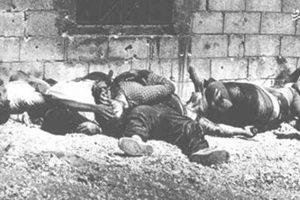 زنان فلسطین قبل اعدام قبر خود را کندند./ تصاویر