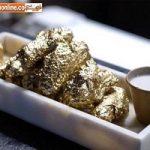تزئین بال مرغ با طلای ۲۴ عیار